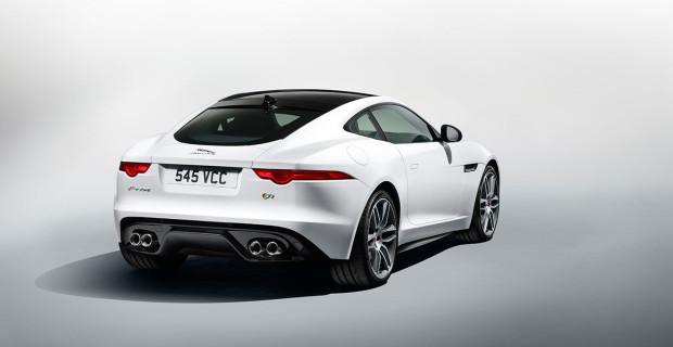 Jaguar F-Type R Polaris White vue arrière 1
