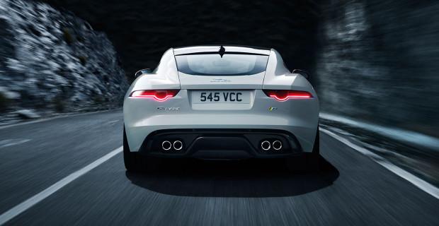 Jaguar F-Type R Polaris White vue arrière 2