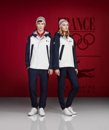 Tenues Lacoste France Olympique Jeux Olympique d'Hiver Sotchi 2014