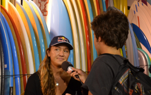 Interview Carissa Moore – Roxy Pro France 2014