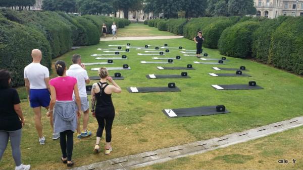 Cours power pilates jardins de tuileries à Paris L'usine Opéra