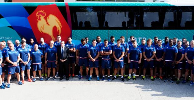 Le XV de France en route vers la Coupe du Monde avec la RATP